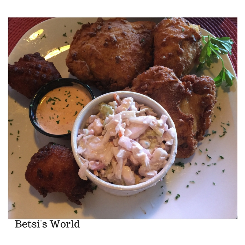 Cajun Cove Cajun Fried Chicken & Bleu Cheese Slaw https://betsiworld.com//cajun-cove-vero-beach-florida/
