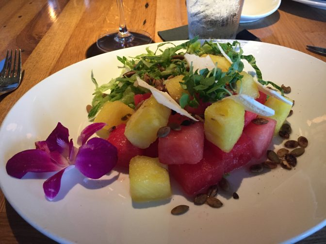 Watermelon Salad @The Boatyard https://betsiworld.com//great-food-great…rt-lauderdale-fl/