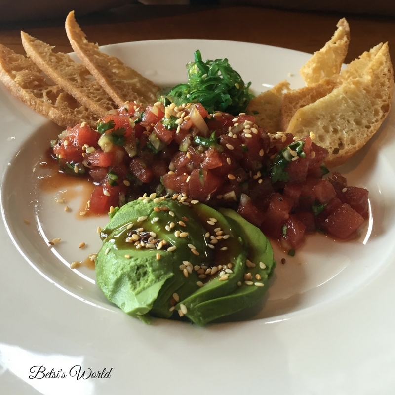 Tuna Avocado at Sea Watch https://betsiworld.com//sand-meets-surf-…watch-restaurant/ ‎