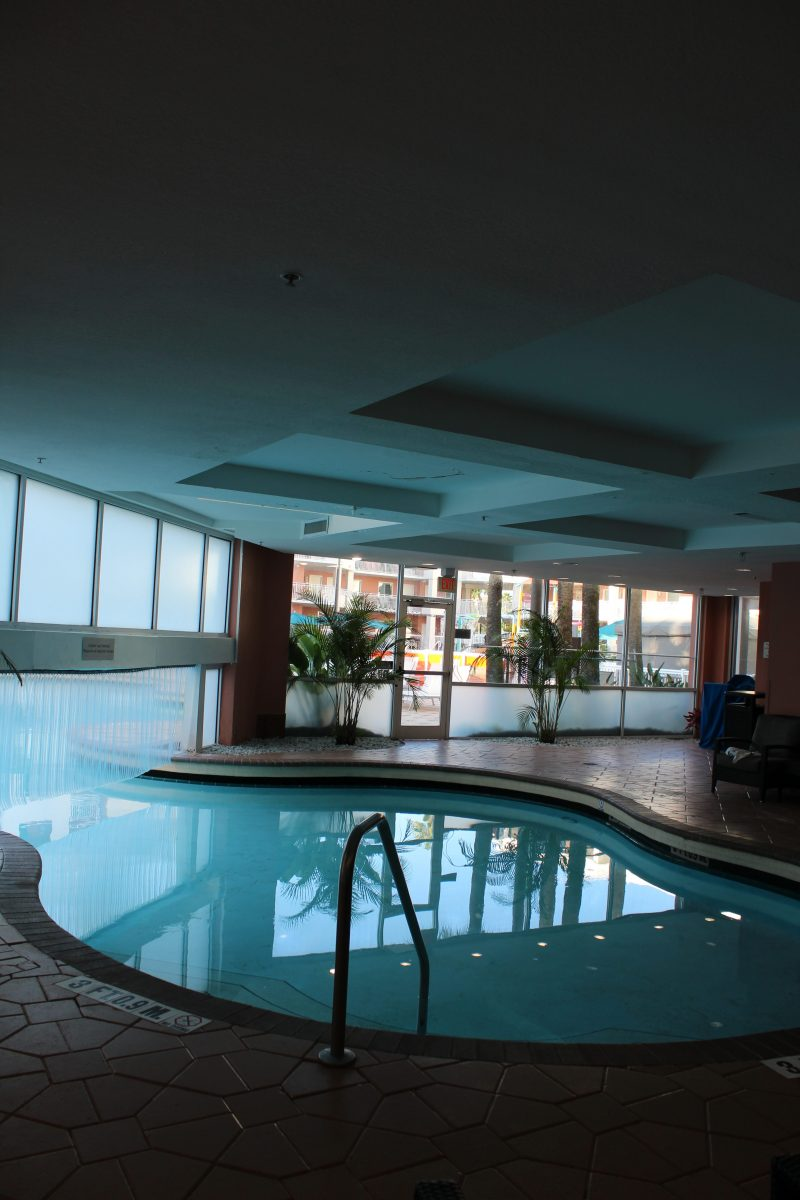A swim thru pool? Yep! The Embassy Suites hotel at Disney has one