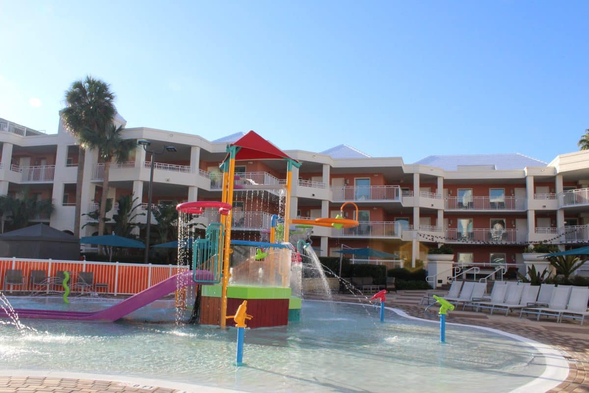After a day of Disney, the kids will love the splash park at Embassy Suites