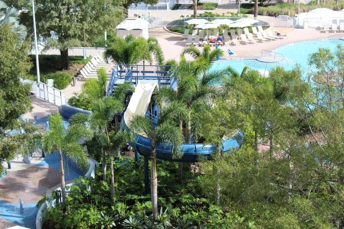 Disney's Contemporary Resort has a 17-foot water slide!