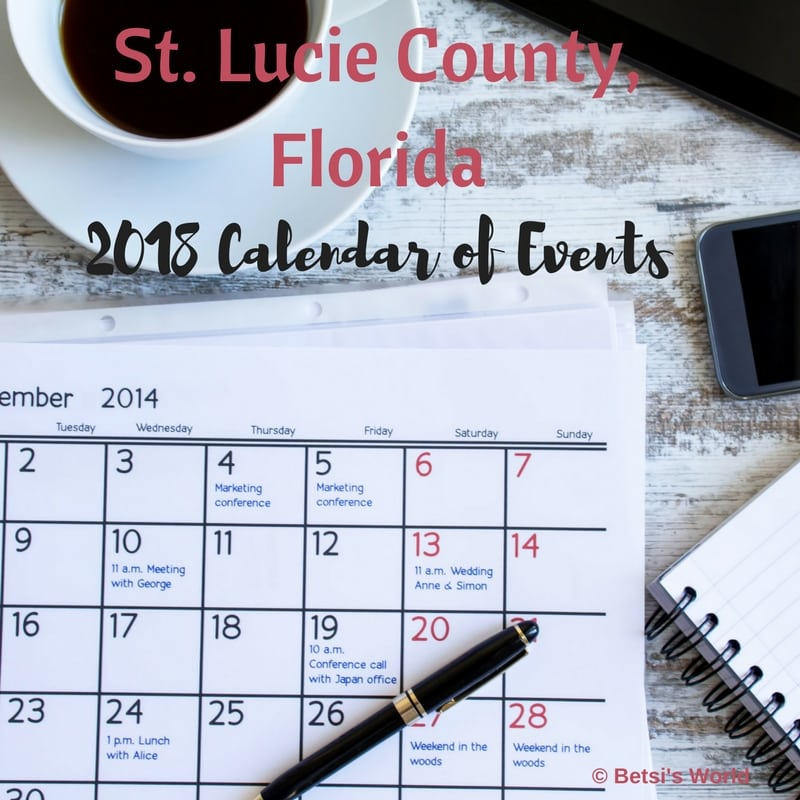 What's Happening in St. St. Lucie County, Florida 2018? Keep up on all the happenings in St. Lucie County with our Calendar of Events!