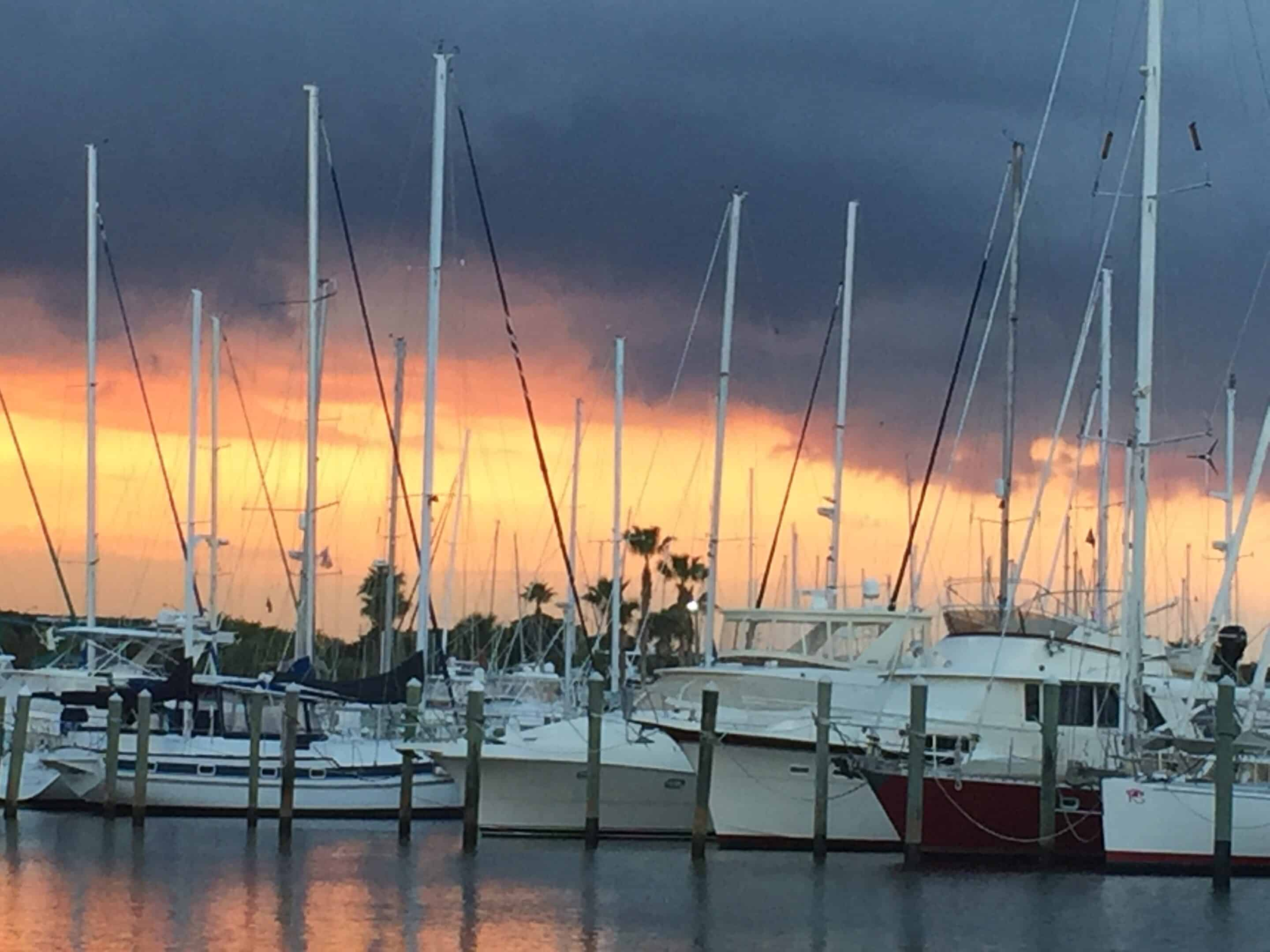 Sunset at Harbortown Marina