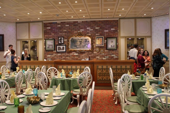 Tiana's Place onboard the Disney Wonder exudes Southern charm