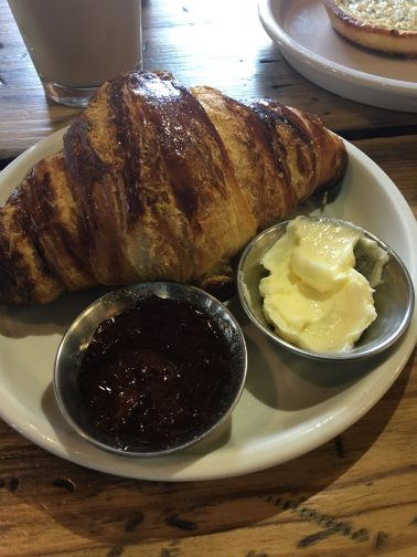 Commune's Honey Croissant is served with fresh butter and homemade jam