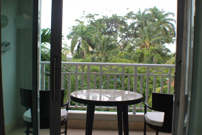 Find Your Bliss at Sandals Barbados: Stepping out onto our balcony through the double sliding doors was a wonderful surprise as we overlooked the beautiful gardens.