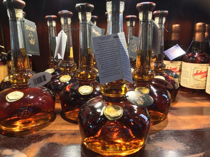 Willett Distillery, Bardstown, KY. The bottles for their Pot Still Reserve pays homage to the shapely pot still.