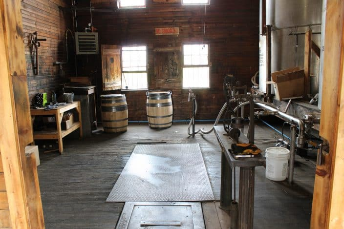 Willett Distillery, Bardstown, KY. Using some of the original methods, each of the barrel is labeled prior to storage in the rick houses.