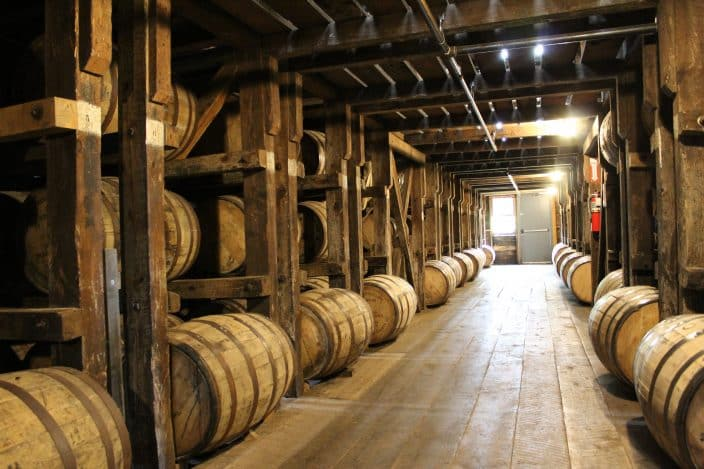 Willett Distillery, Bardstown, KY. March 24, 2017 marked their 25,000th barrel of Kentucky bourbon hitting the rick house for aging.