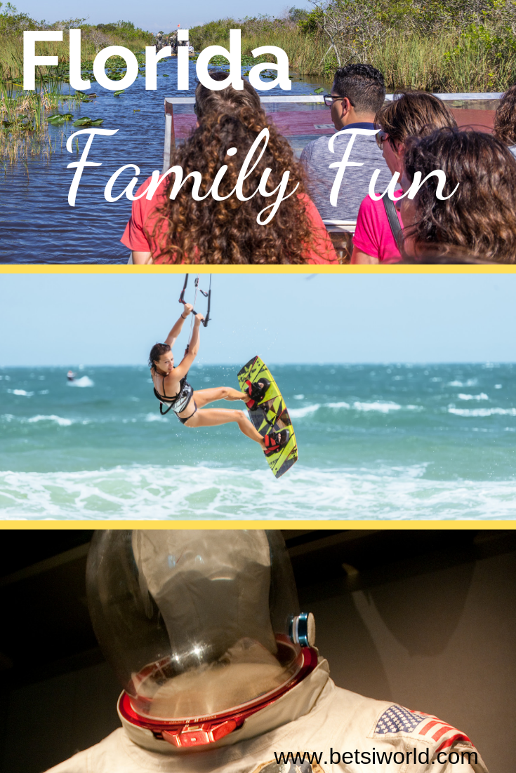 Venture an hour or two South of Orlando and discover Florida's other side - The Space Coast & Treasure Coast are filled with small towns and lots of family fun! Beachcombing, windsurfing, kiteboarding, Cape Canaveral, treasure, airboat adventures and more are waiting for you to discover them! #familyvacation #FLvacation #familyfun