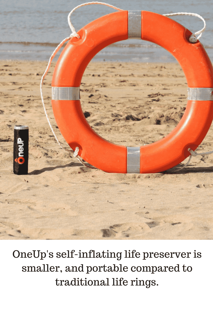 It's nearing summer, and OneUp's self-inflating life preserver is essential to reduce the water tragedies that can often strike suddenly. It's small, portable & lightweight - perfect to carry with you for water sports.