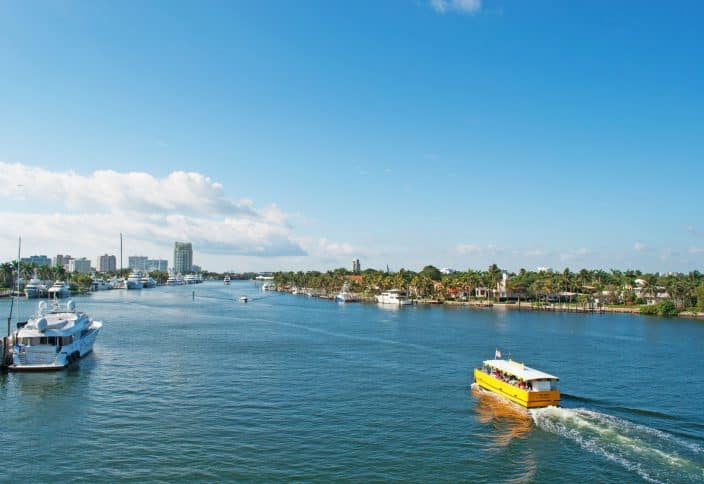 Florida Boating - catch the water taxi right at the Bahia Mar and explore the waterways of the Venice of America