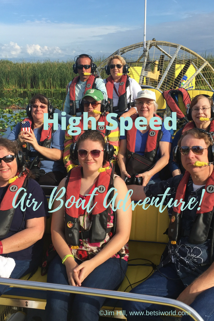 Try a high-speed adventure on Florida's Treasure Coast with Captain Bob's Airboat Adventures! This is a great time for everyone ~ in fact, we take our out of town visitors out to Blue Cypress Conservation area for this hair-raising airboat adventure. And y'all, you know it's good when we've taken the tour four times and counting!