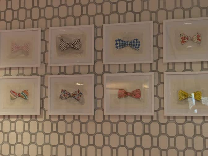 "Just a small selection of ""Bow Tie Art"" that grace the walls of The Graduate"