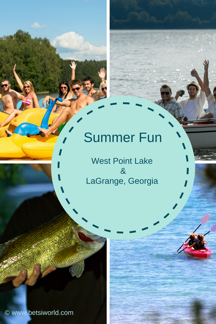 Summer fun is boating & fishing on West Point Lake, in Georgia. And don't forget to visit LaGrange for even more fun! Outdoor Fun on West Point Lake, in LaGrange, Georgia. #boating #WestPointLake