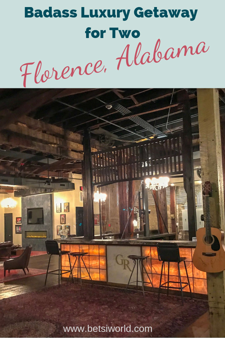 The GunRunner Boutique Hotel in Florence, AL is ideal for a getaway for two