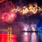 New Years 2015 Fireworks in Baltimore Inner Harbor