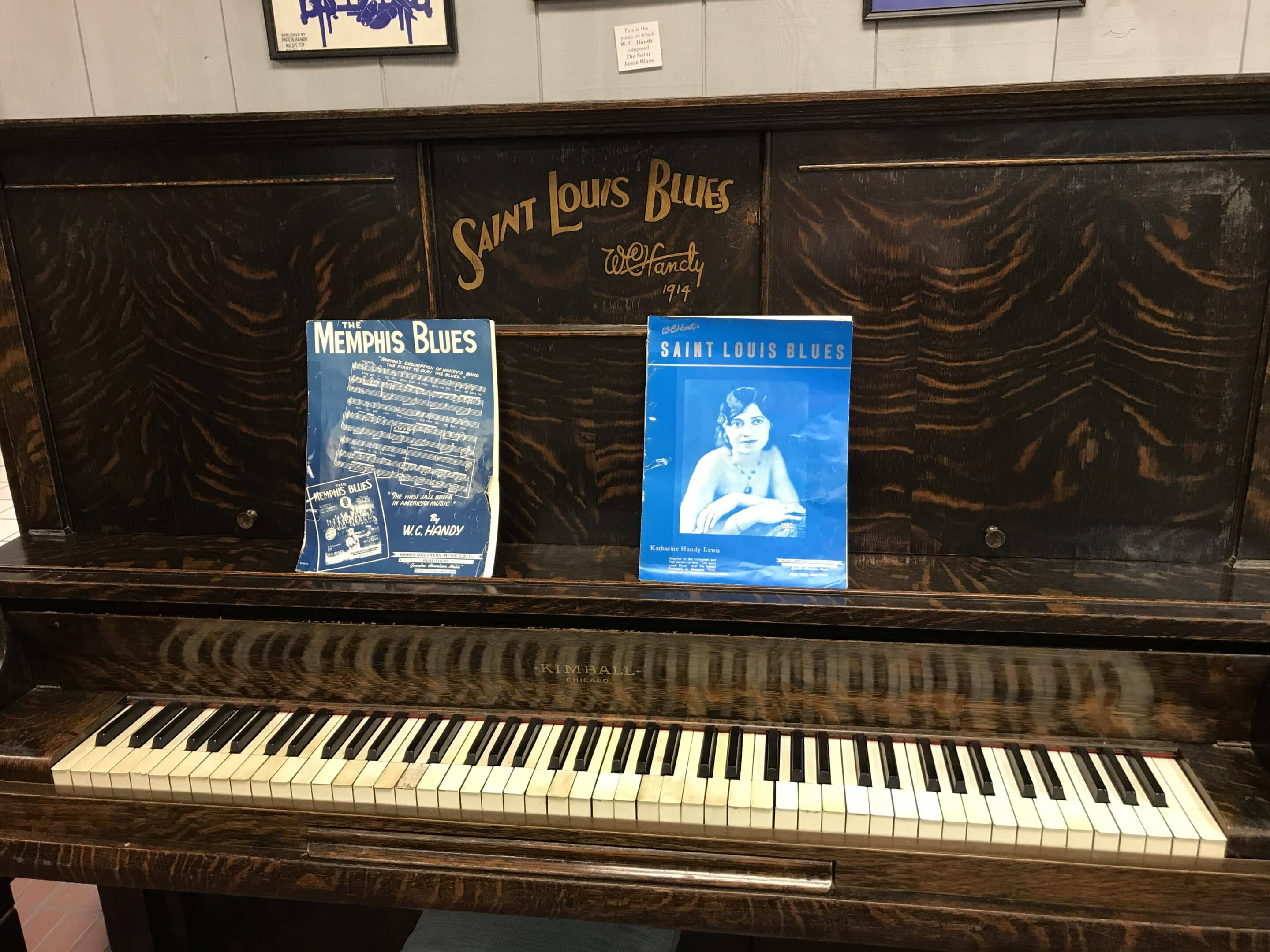St. Louis Blues piano in the W.C. Handy Museum