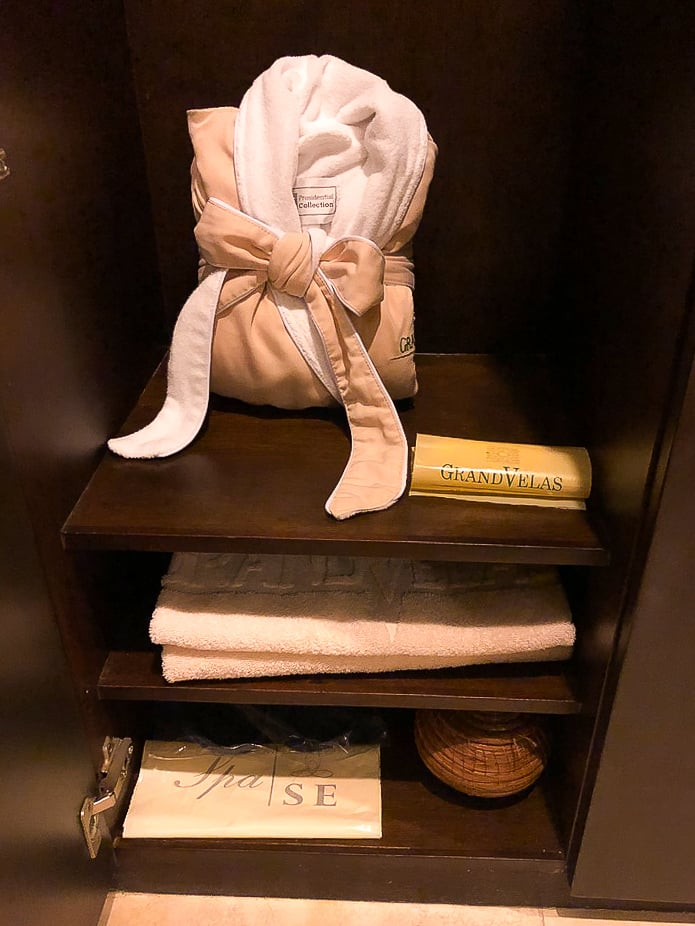 Your personal locker at Grand Velas Se Spa....nothing better than a thick, thirsty robe to wrap you in luxury!