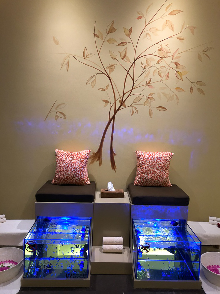 Do your feet need a bit of attention? Try the fish pedicure at Grand Velas Se Spa