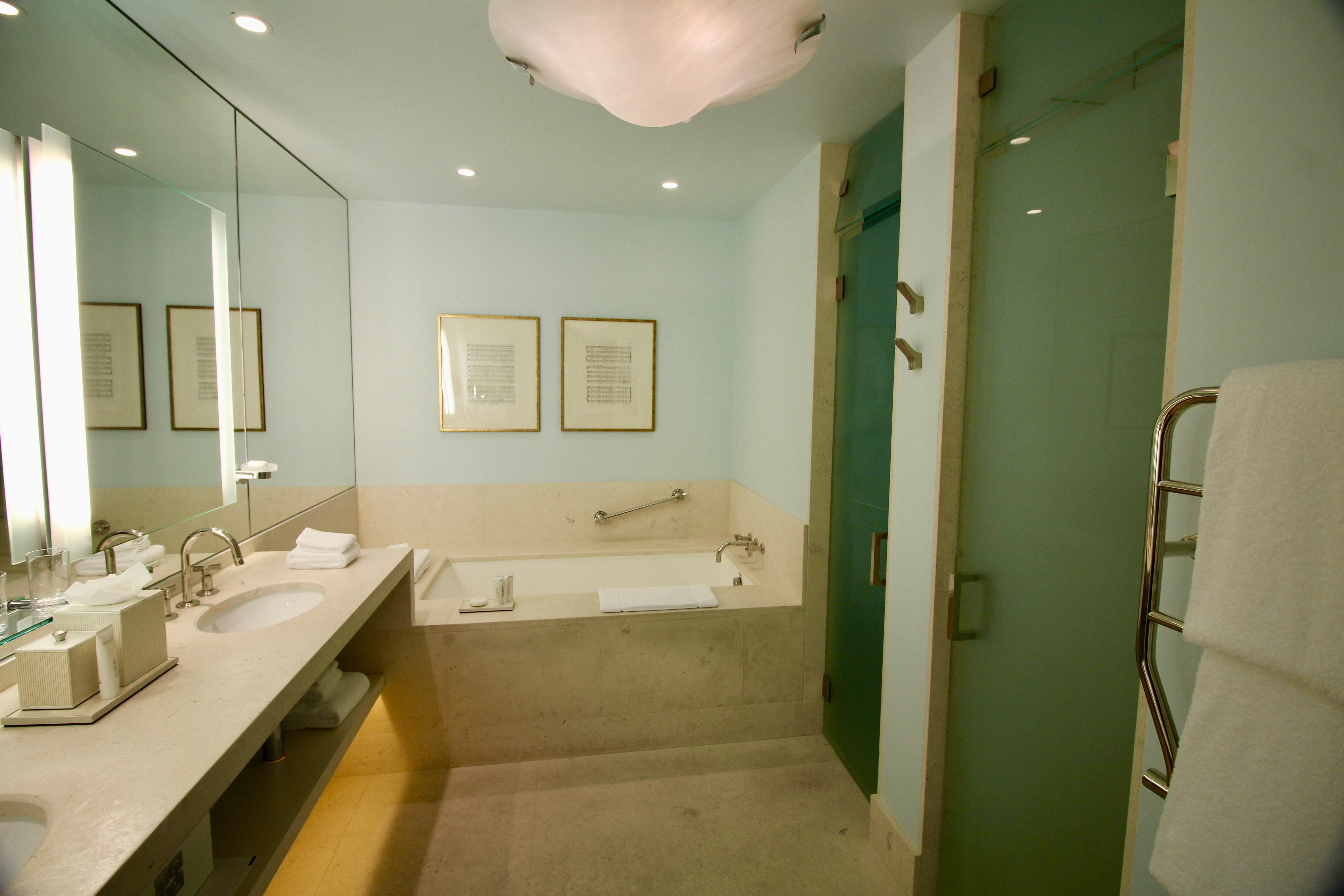 This bath is ideal for a couples getaway for two! The Ivy Hotel is a perfect locale for your next romantic getaway!