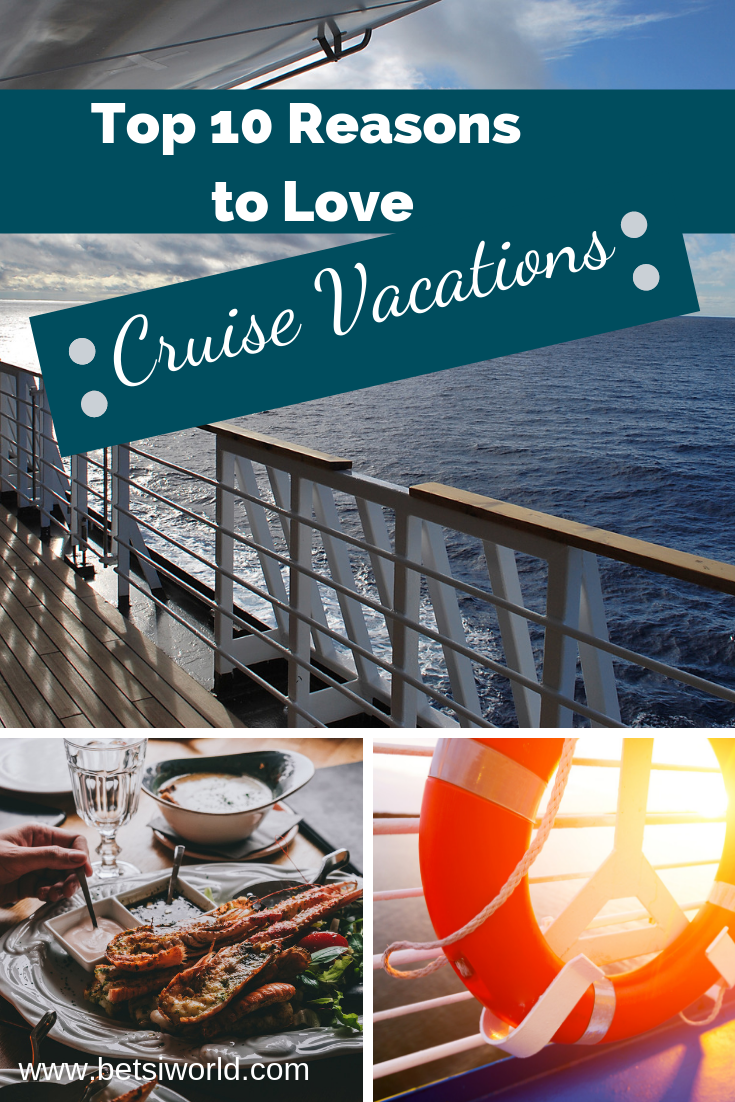 With so many choices for a vacation, why not choose a cruise vacation? Relax in the pool, spa, or just hang out on deck; Experience multiple ports of call & only unpack once when you choose to cruise. These top 10 reasons for choosing a cruise vacation will help you navigate choosing your next #smartluxury vacation - on the sea. #cruise #cruisevacation #caribbeancruise #travel