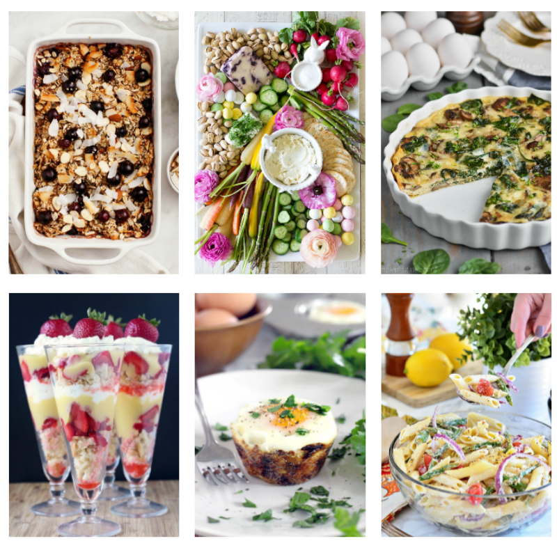 Photos of some of the dishes that we make for a quick and Easy Easter Brunch