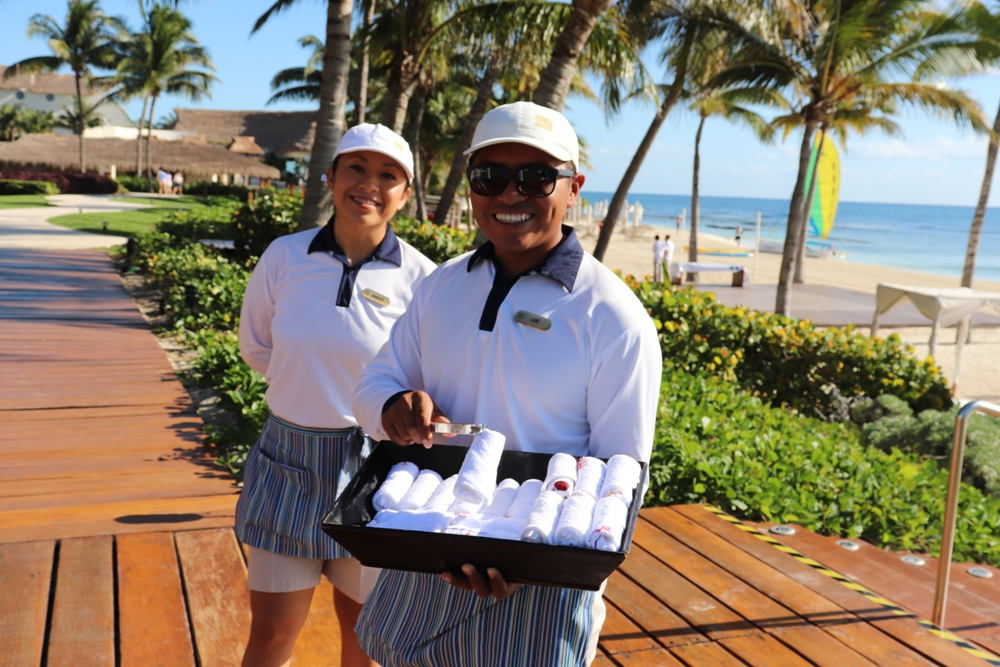 When you arrive at Grand Velas Riviera Maya for your getaway, you are greeted with cool, refreshing towels