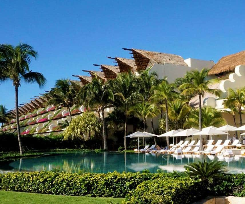 The Grand Velas Property is lush and green, perfect for your Grand Velas getaway