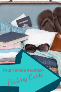 Suitcase with clothes, sunglasses, passport, books