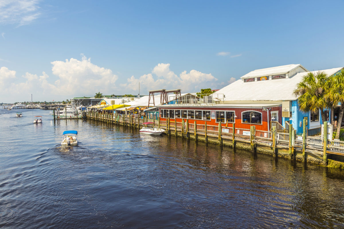 a seafood restaurant on the water in Naples, a destination to visit during your florida weekend getaway