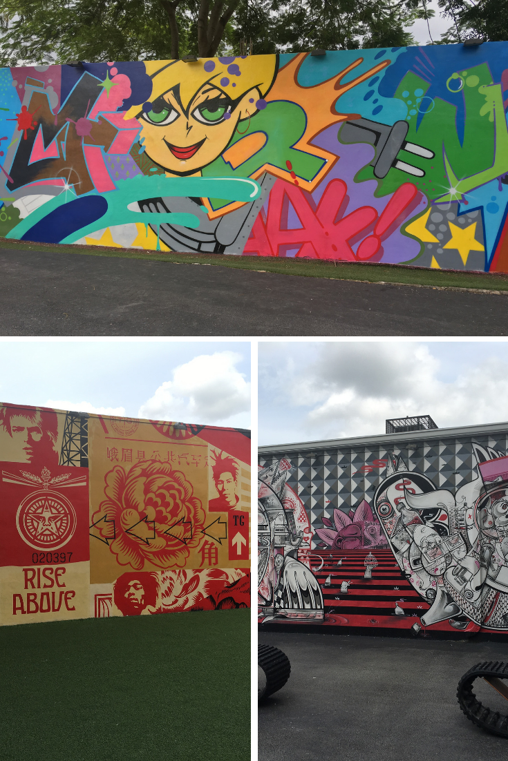 the walls at Wynwood in Miami, a dog-friendly vacation spot
