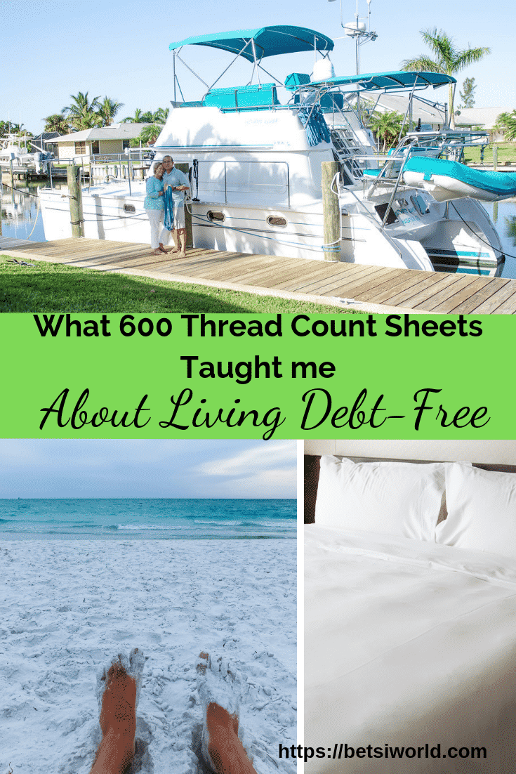 Making the choice to live debt-free means sacrificing. But even when you are living debt-free, you can add little luxuries like 600 thread count sheets to your life. #freedomliving #debt-freelife #smartluxury #c2c