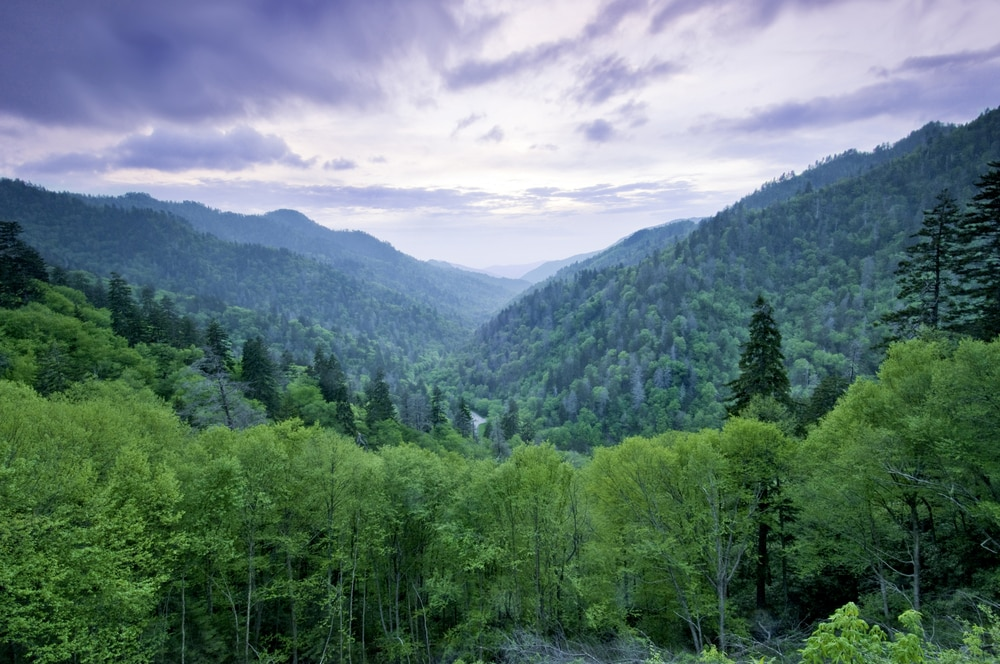smokey mountains in Tennessee, a beautiful place for a romantic Tennessee getaway