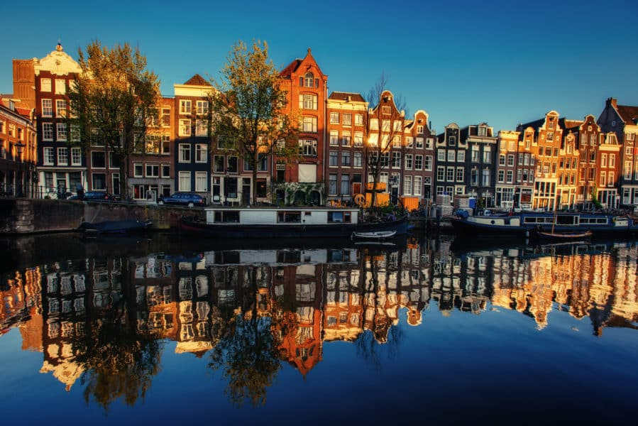 Amsterdam homes on the canal