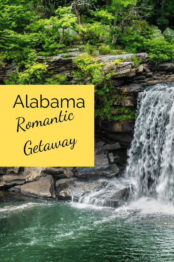Outdoor fun and music await you on your Alabama romantic getaway! Explore waterfalls and stay in rustic cabins. Experience bad ass luxury in Florence as you walk through music history on an Alabama romantic getaway. #couplesgetaway #romance #Alabama