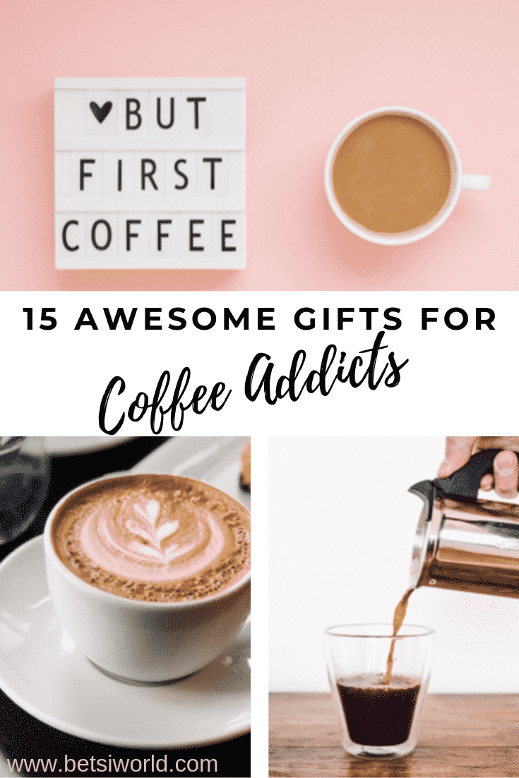 Have a coffee lover in your life? These awesome gifts for the coffee addict in your life will wow them and make you feel like the best friend in the world! #coffee #giftsforthecoffeelover #Christmas #giftguide