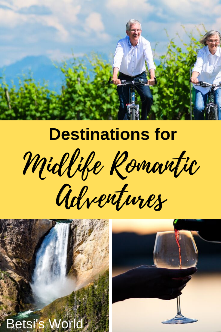 Escape on a romantic midlife adventure getaway and try something different. Romantic midlife adventures can be fun and stimulating...and romantic. Take a history tour; explore global wine destinations; or get out in nature and try glamping. Adventure awaits you in midlife, and it's an ideal time to plan a romantic midlife adventure getaway.