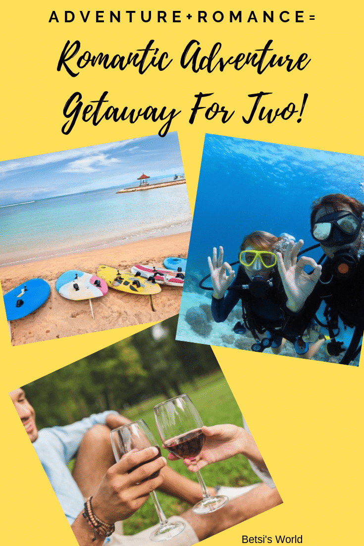 Nothing sparks romance like a romantic adventure getaway - whether at home or away, planned or spontaneous. A romantic adventure getaway will bring you closer together, and learning something new together creates a romantic bond.