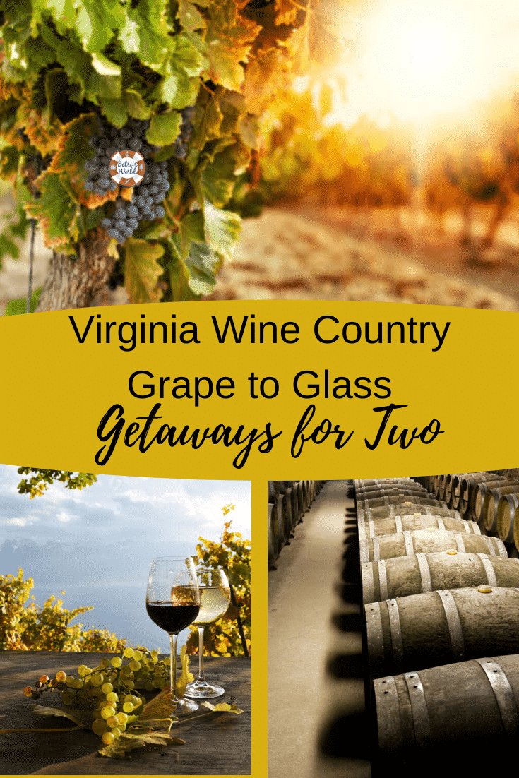 With so many wineries to choose from, it can be hard to know which ones are worth the trip. Here are five romantic Virginia wine country getaways for two. #romanticgetaways #getawaysinVirginia #Virginiawinegetaways