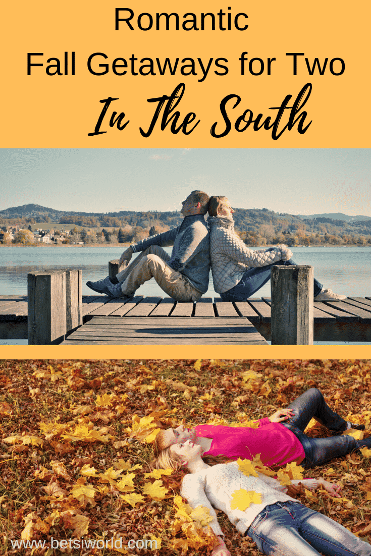 Each section of the US has an ideal travel season – the time of year where the region is at its best. And for the South, that season is fall. Here are 6 romantic getaways in the South this fall. These romantic fall getaways in the south are perfect for couples!