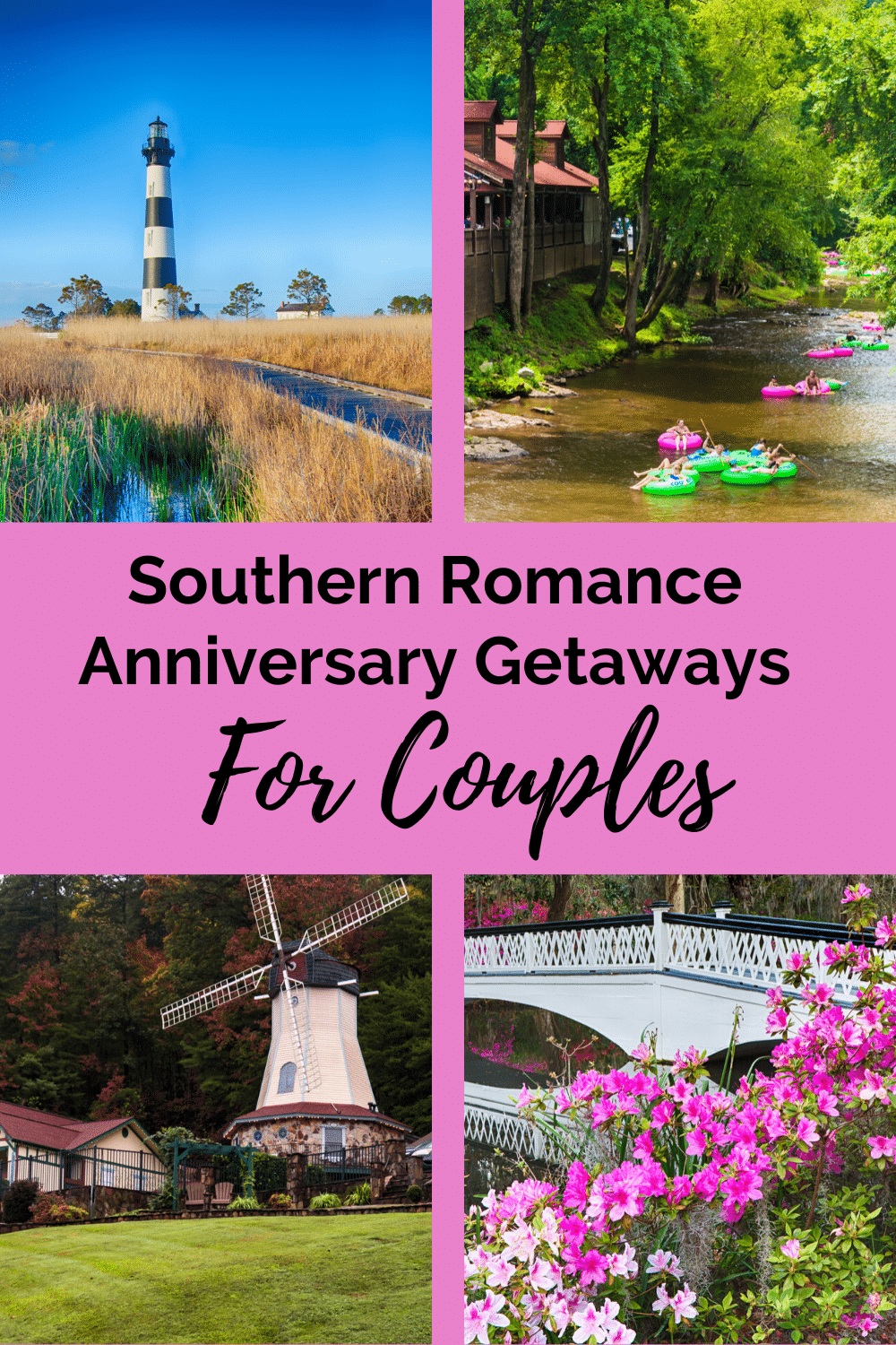 Home to vast antebellum plantations and rich cultural history some of the destinations for the best anniversary vacations for couples can be found in the South. #anniversarygetaways #southernromance #anniversarygetaways #couplesvacation