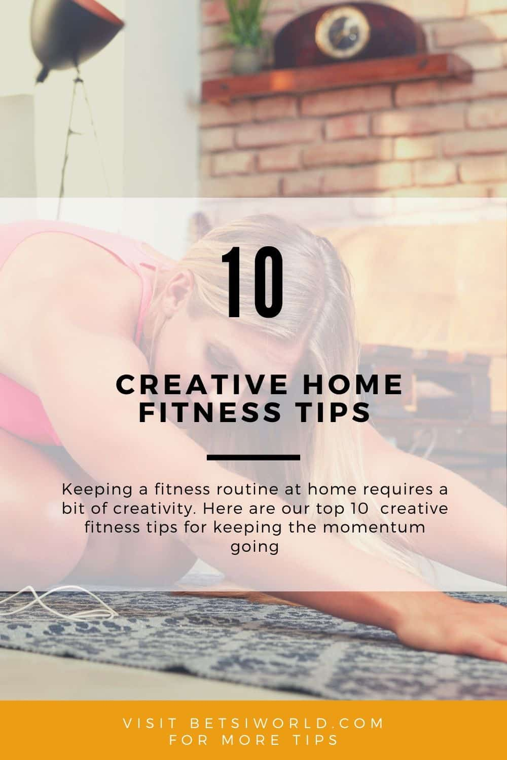 Good mental health promotes good physical health, and we crave routines. Keep on your toes with these 10 creative home fitness tips that use our everyday activities as a form of #fitness at home.