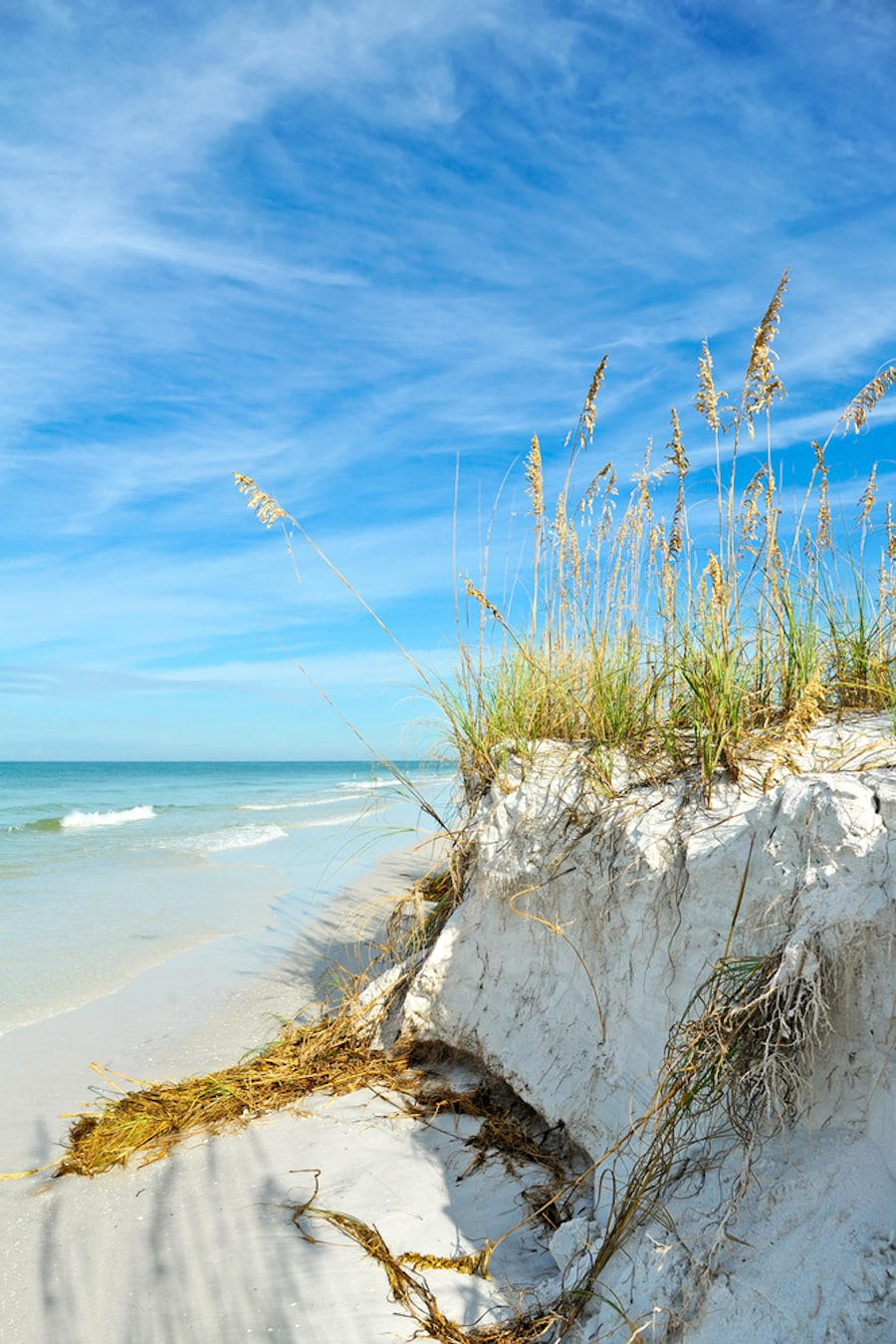 Beautiful beach showing anna maria island romantic getaway spots.