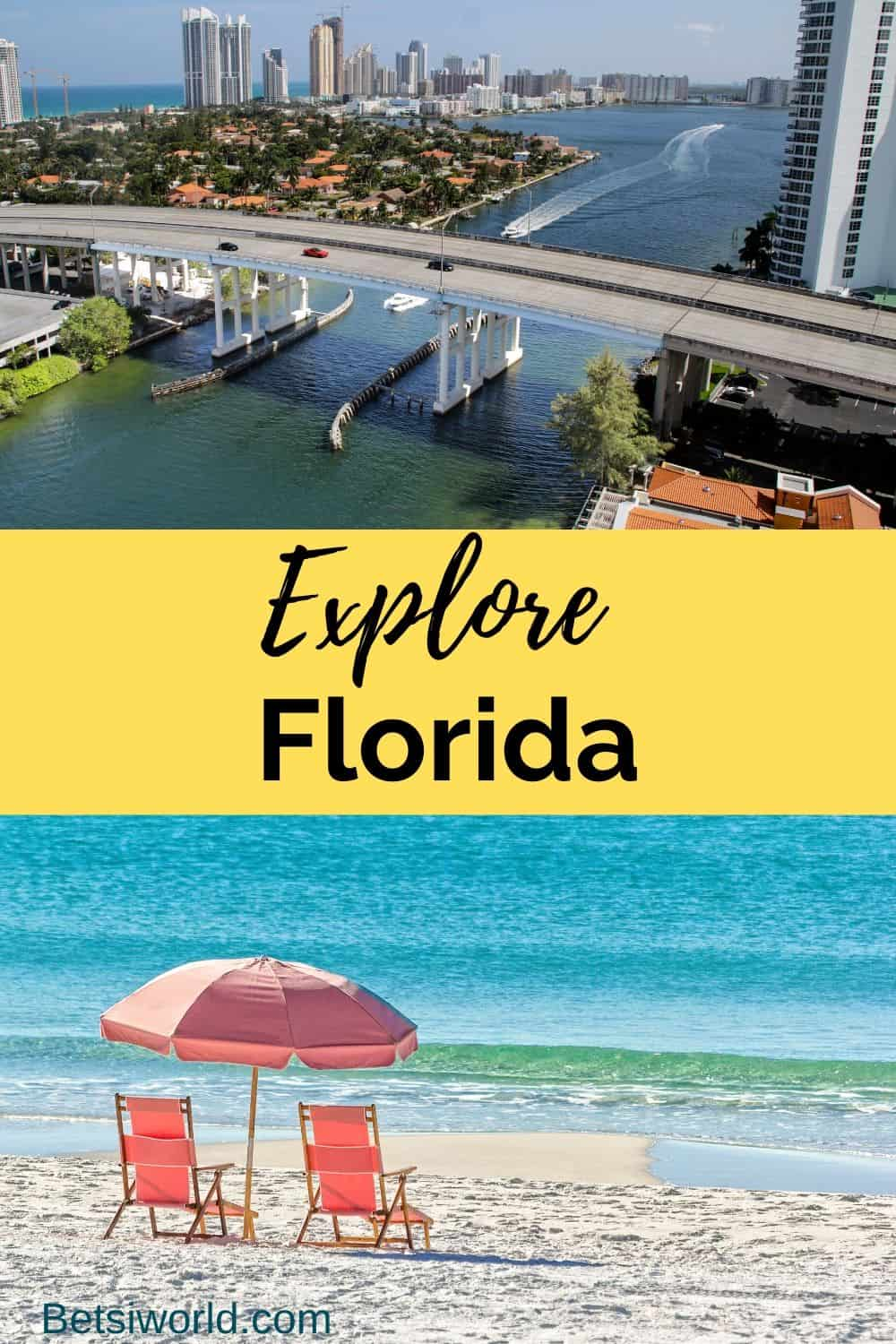 No matter where you lean, Florida has an ideal destination. Laid-back and relaxing on one of Florida's sugar sand beaches, fishing fun catching some of Florida's fresh fish, a romantic getaway for two, or theme park fun, Florida has it all! #Floridavacation #Florida #Floridagetaways betsiworld.com