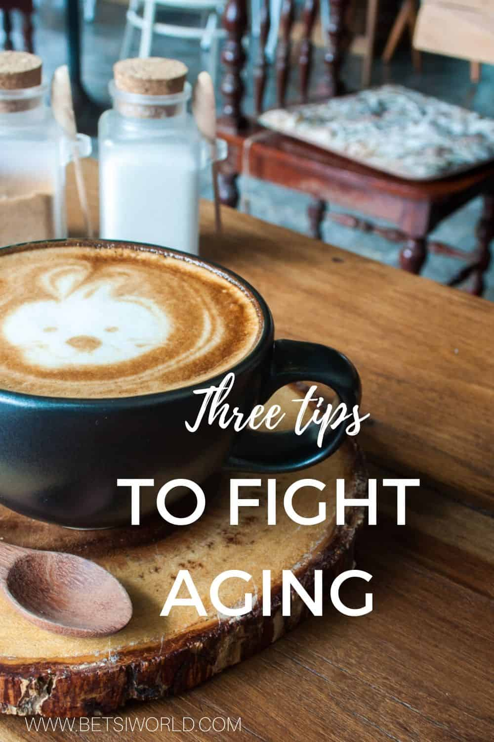 Many of us long for the first cup of coffee in the morning to help jump-start our day. Coffee, or actually the caffeine in coffee is a natural way to fight aging. So next time you pick up that delicious cup of coffee, remember you are fighting aging!  For more health tips and healthy recipes, visit www.betsiworld.com #coffee #healthycoffee #caffeine