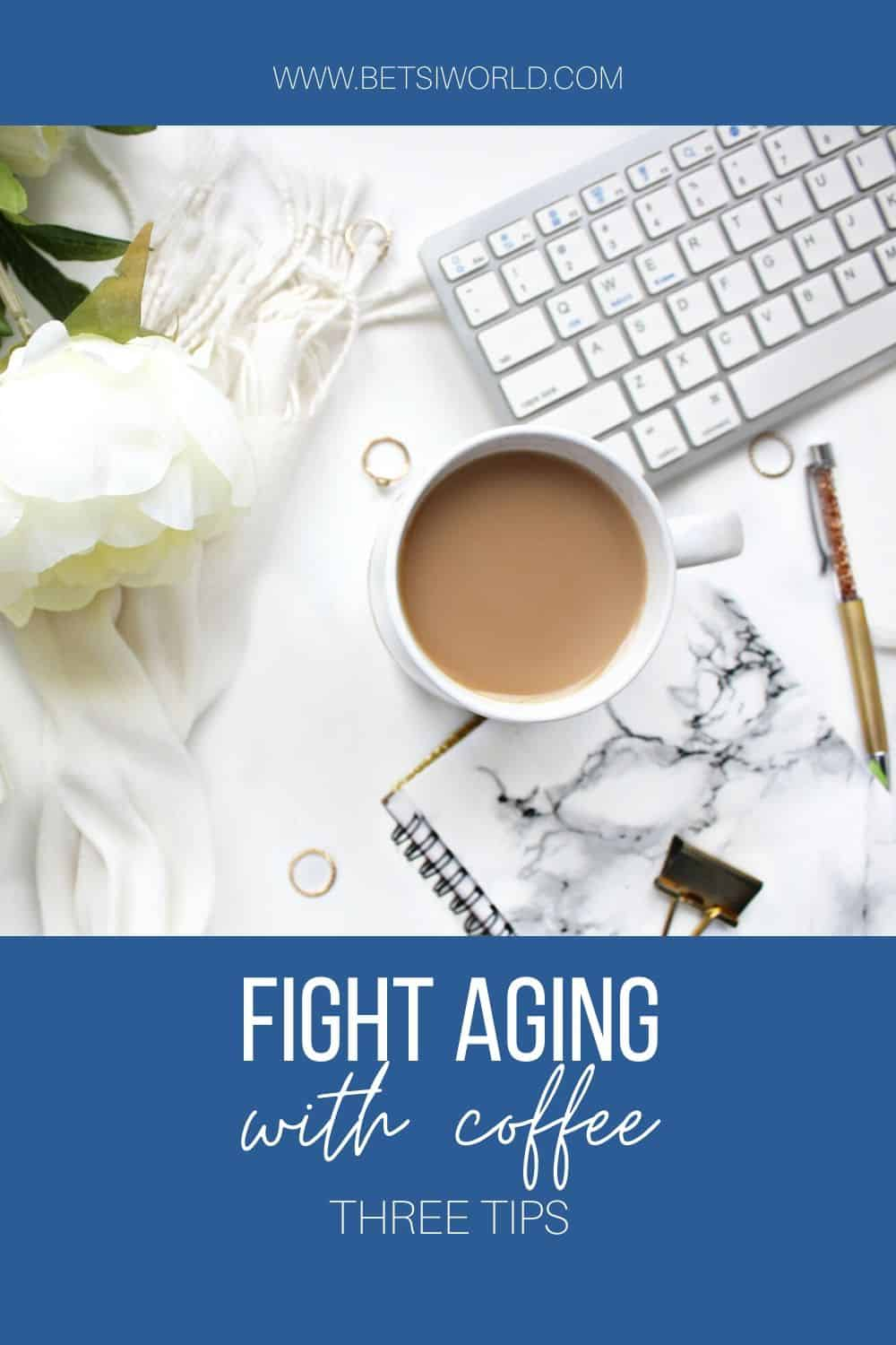Many of us long for the first cup of coffee in the morning to help jump-start our day. Coffee, or actually the caffeine in coffee is a natural way to fight aging. So next time you pick up that delicious cup of coffee, remember you are fighting aging! #coffee #healthycoffee #caffeine