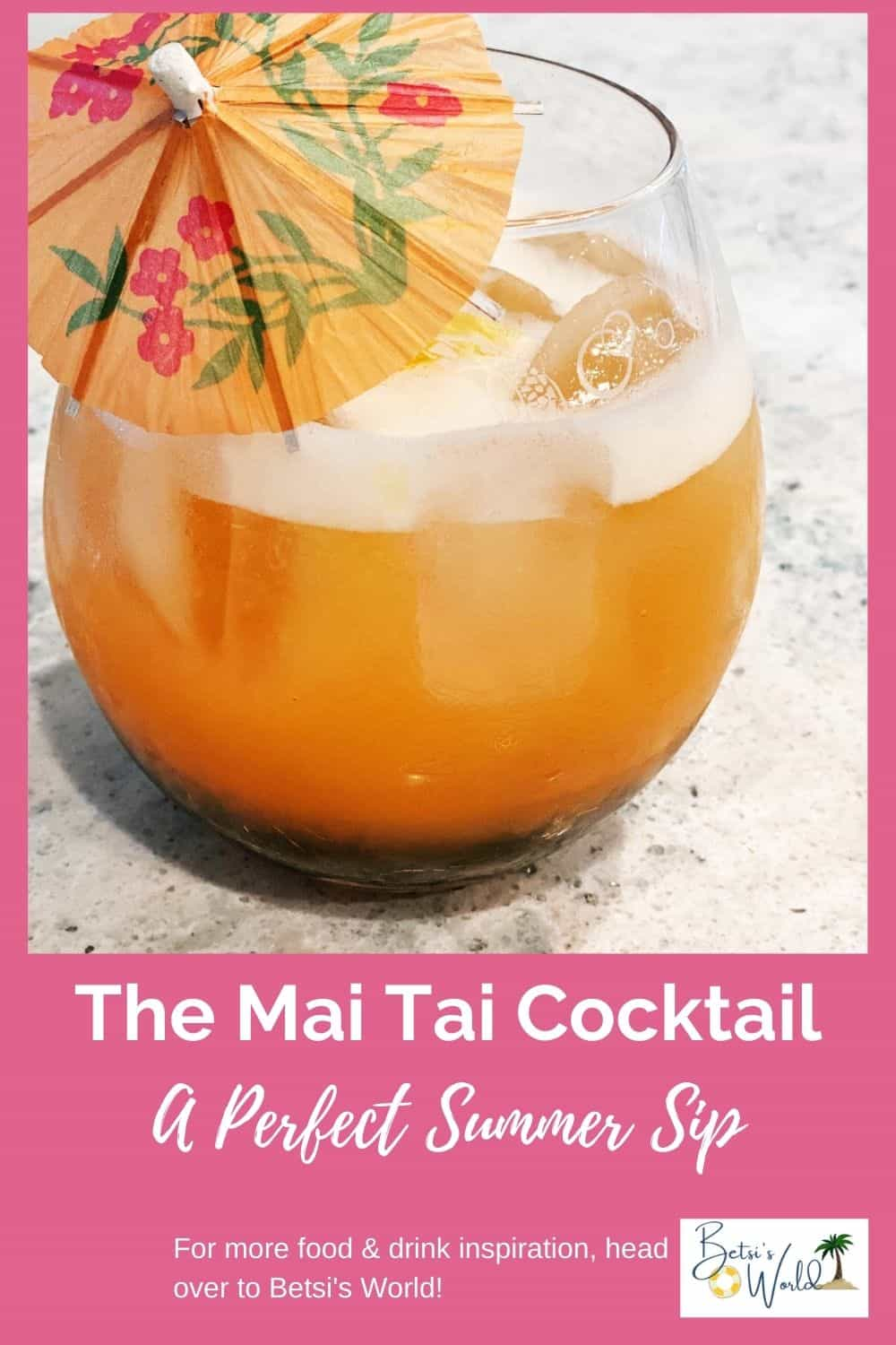 A Mai Thai cocktail is the perfect summer sipper for those hot, steamy summer days! This easy and refreshing cocktail is perfect for sipping by the pool, on the beach, or for an impromptu summer BBQ. #summercocktail #cocktails #maithai #easycocktail #rumcocktail
