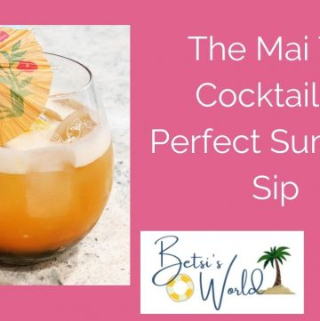 The refreshing and simple Mai Tai cocktail is a perfect summertime cocktail! Grab that cocktail glass and start crafting a perfect summer sip....